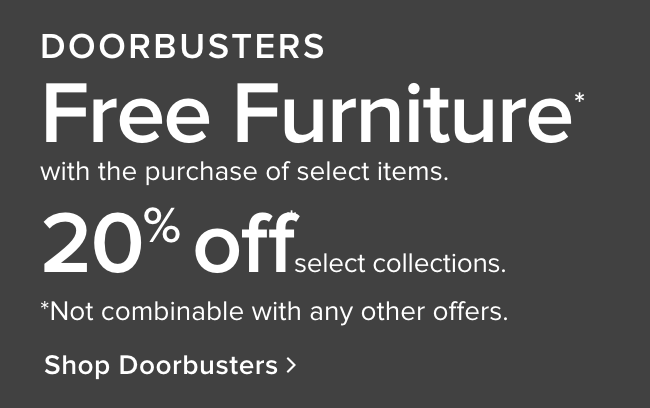 Doorbusters - shop now