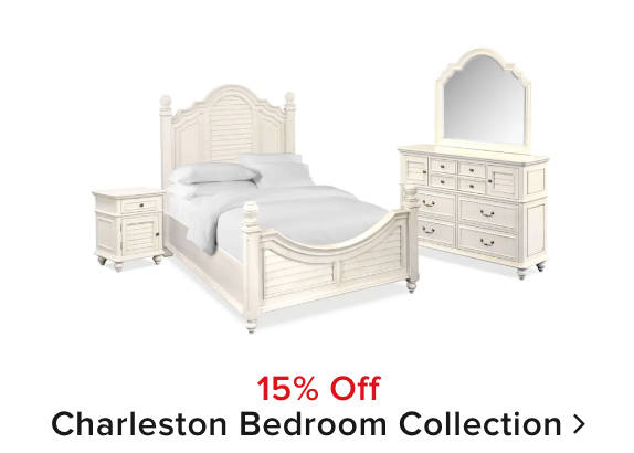15% off Charleston bedroom collection