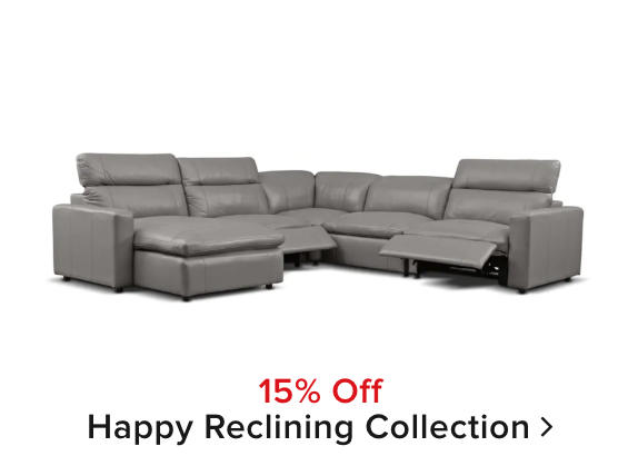 15% off Happy Reclining Collection