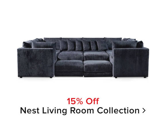 15% off Nest living room collection
