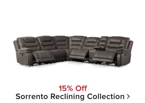 15% off Sorrento Reclining Collection