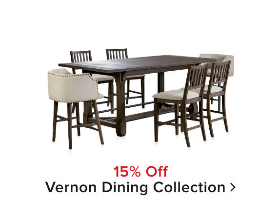 15% off vernon dining collection