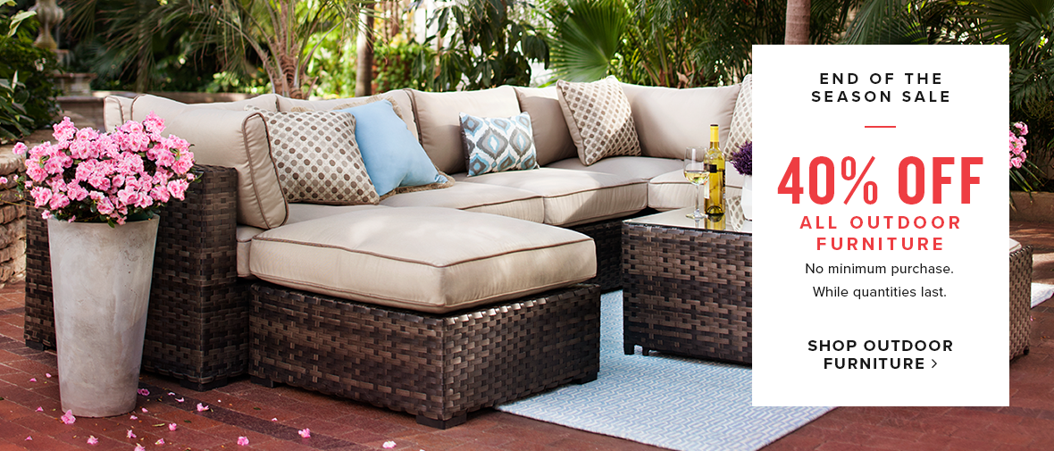 40% off outdoor furniture. shop outdoor furniture.