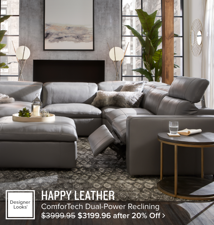 Happy Leather ComforTech Dual-Power Reclining $3199.96 after 20% Off