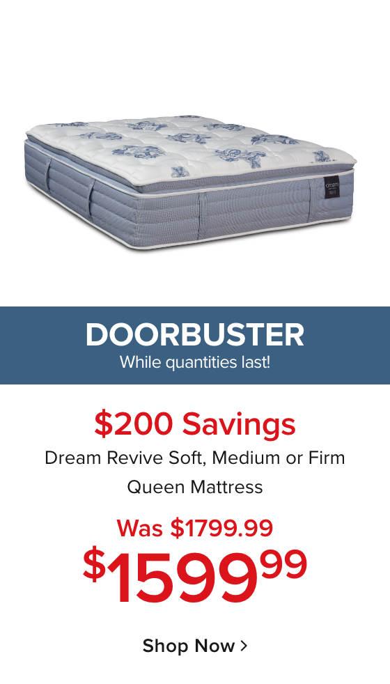 Doorbuster Dream Revive Mattress $1599.99