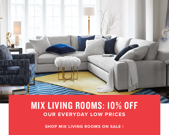 mix living rooms: 10% off | shop mix living rooms on sale.