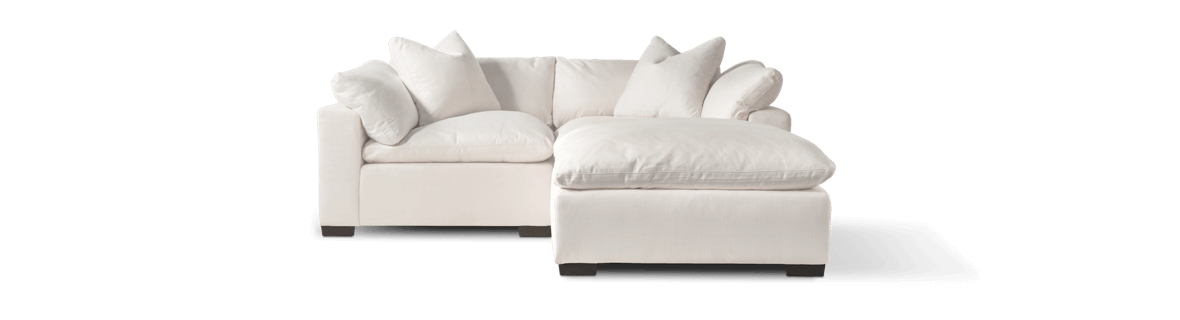 2-piece sofa with Ottoman