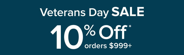 10% Off your order of $999 or more - shop now