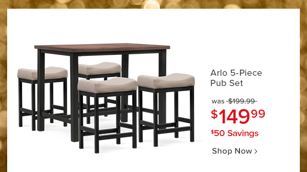 arlo 5-Piece pub set was $199.99 $149.99 $50 savings shop now