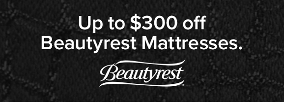 Up to $300 off beautyrest mattresses shop now.