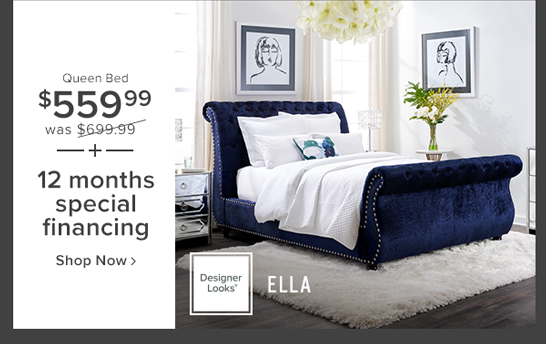 Ella queen bed $560 was $699.99 or $70 per month for 60 months shop now.