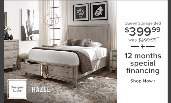 hazel queen storage bed $499.99 or $20 per month for 60 months shop now.