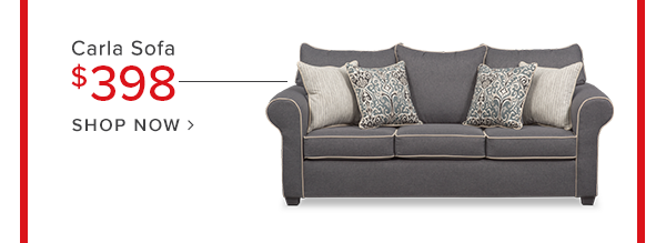 dcarla sofa $498 shop now.
