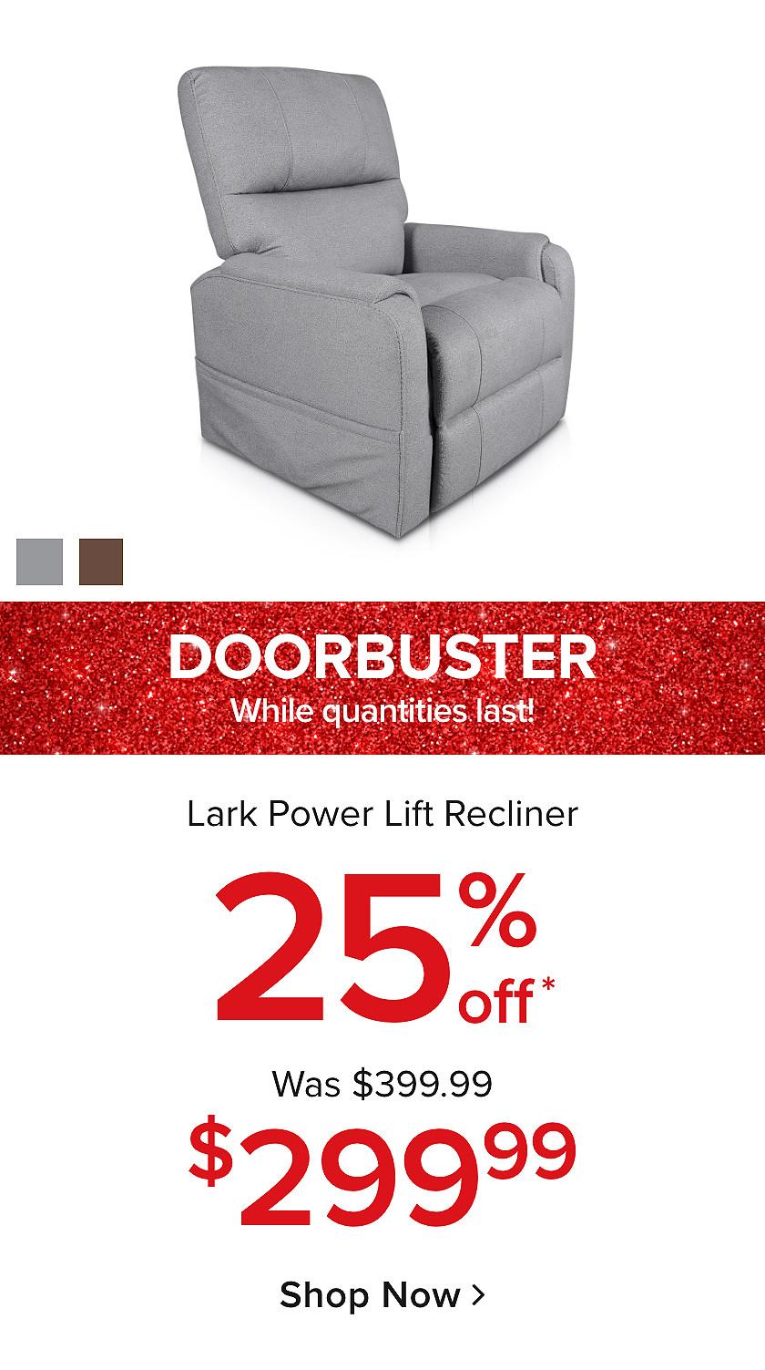 Doorbusters: 25% Off Lark Lift Chair