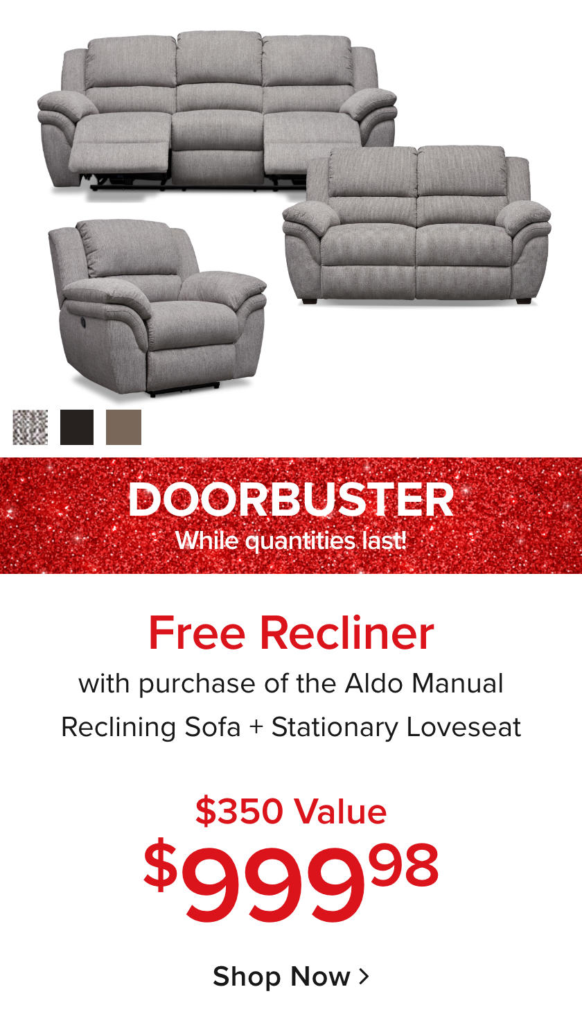 Aldo + FREE Recliner