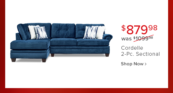 $879.99 was $1099.98 Cordelle 2-Pc. sectional shop now
