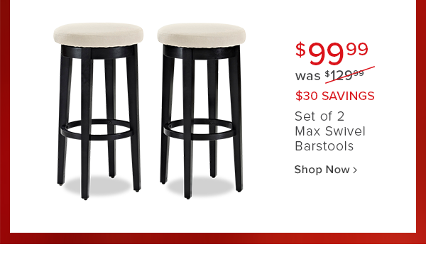 While supplies last! $149.99 was $199.99 $50 savings Set of 2 Archer Industrial swivel barstools. shop now