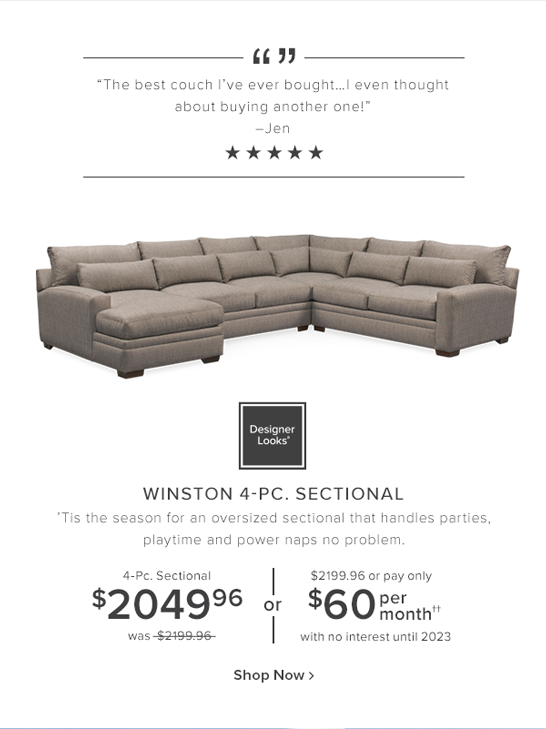 Winston 4-Pc. sectional. 