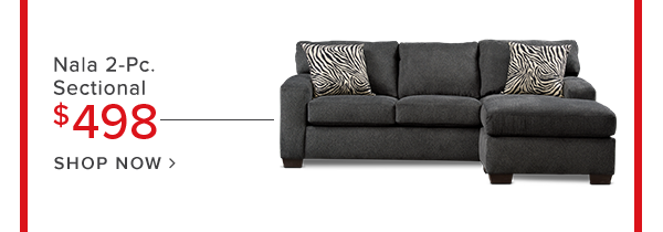 Nala 2-Pc. sectional $498 shop now