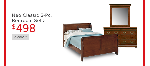 Neo Classic 5-Pc. Bedroom Set $498 shop now