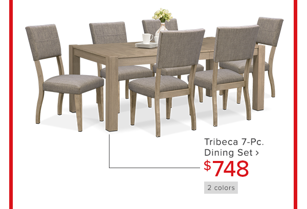 tribeca 7-Pc. dining set $748 shop now