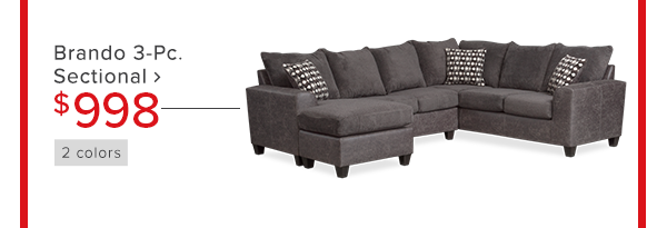 Brando 3-Pc. sectional $998 shop now
