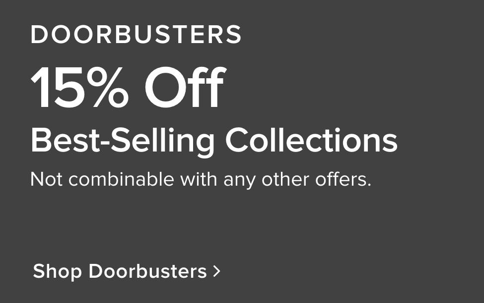 limited time doorbusters 15% off