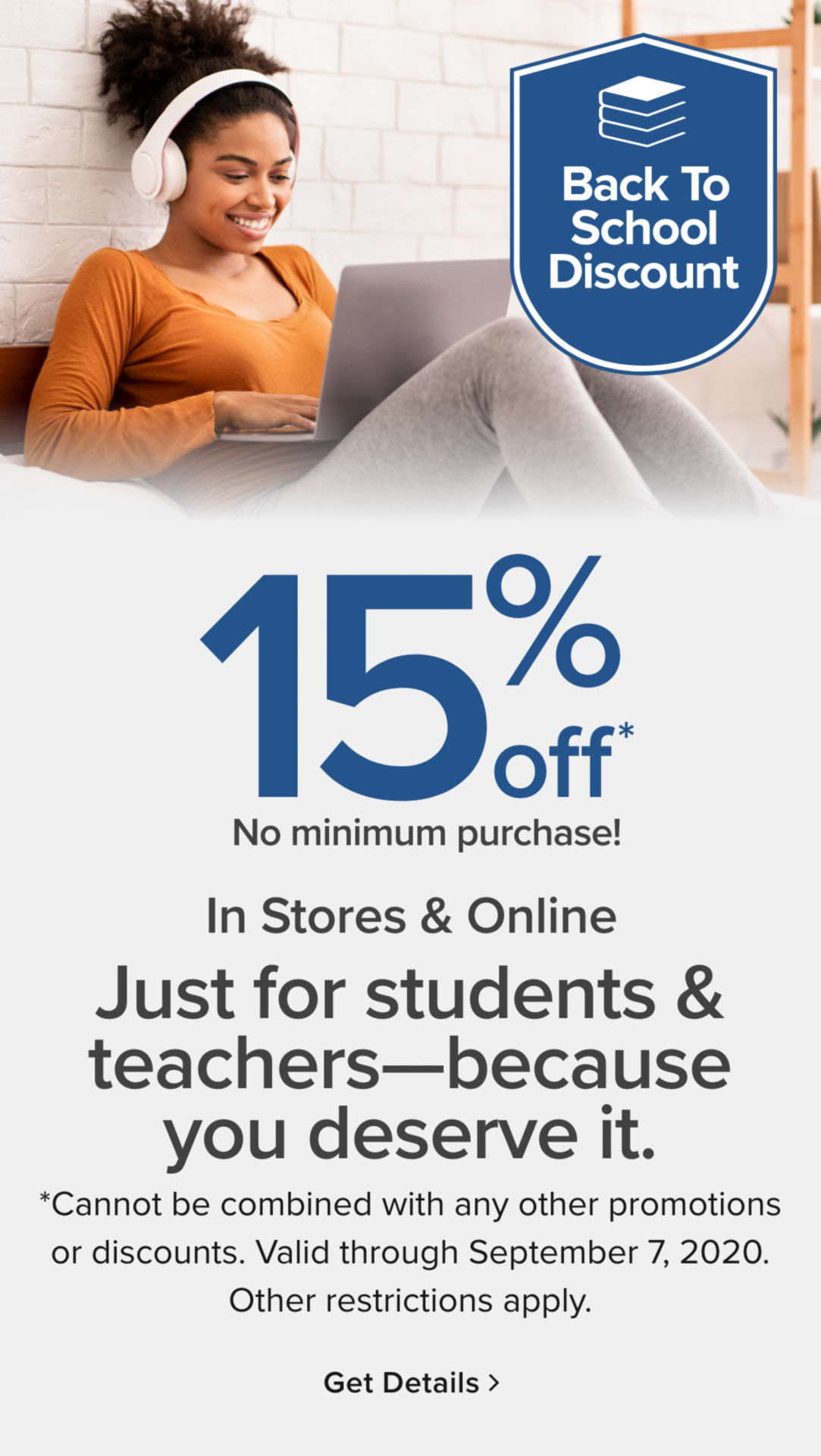 15% Off for Students and Teachers