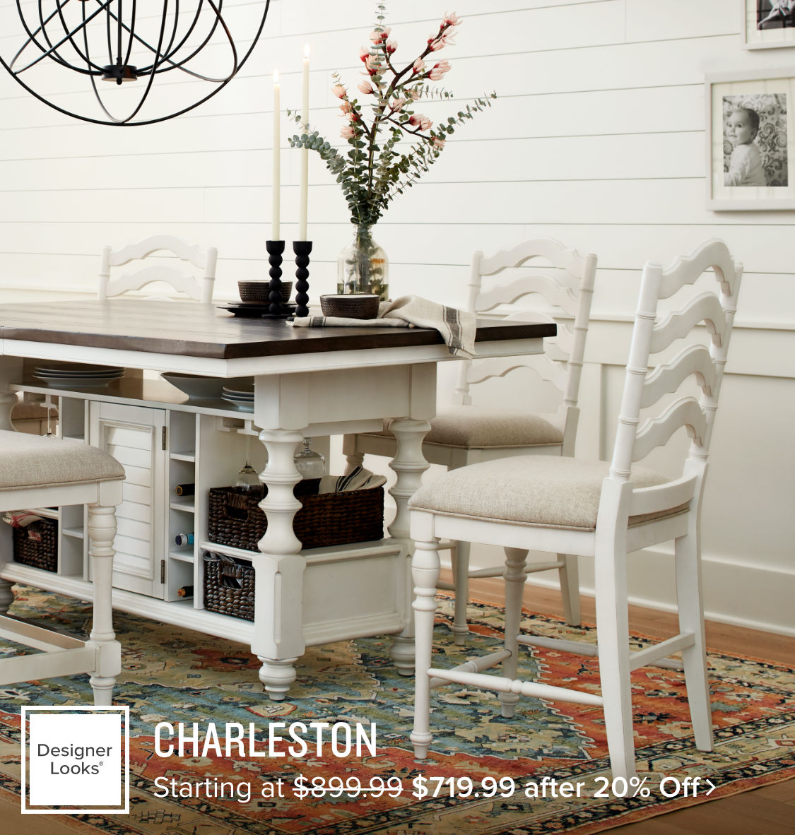 Charleston Dining starting at $719.99 after 20% off