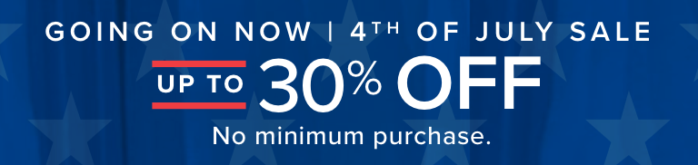 The 4th Of July Sale! - Going On Now | Shop the Sale