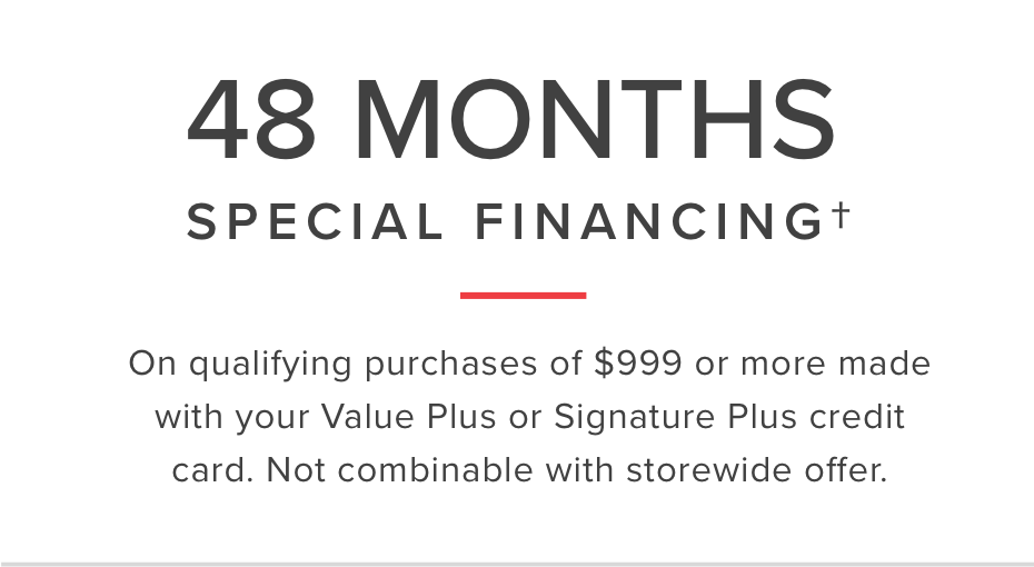48 month special Financing
