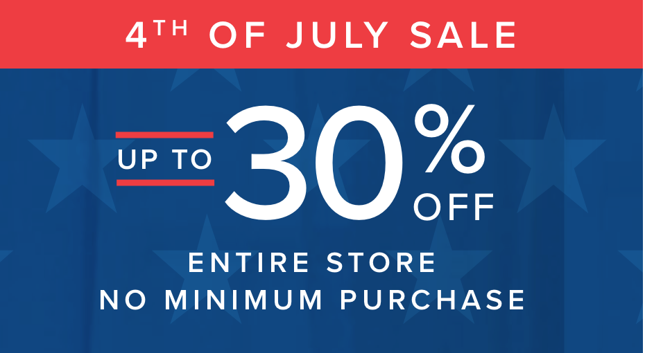 up to 30 percent off