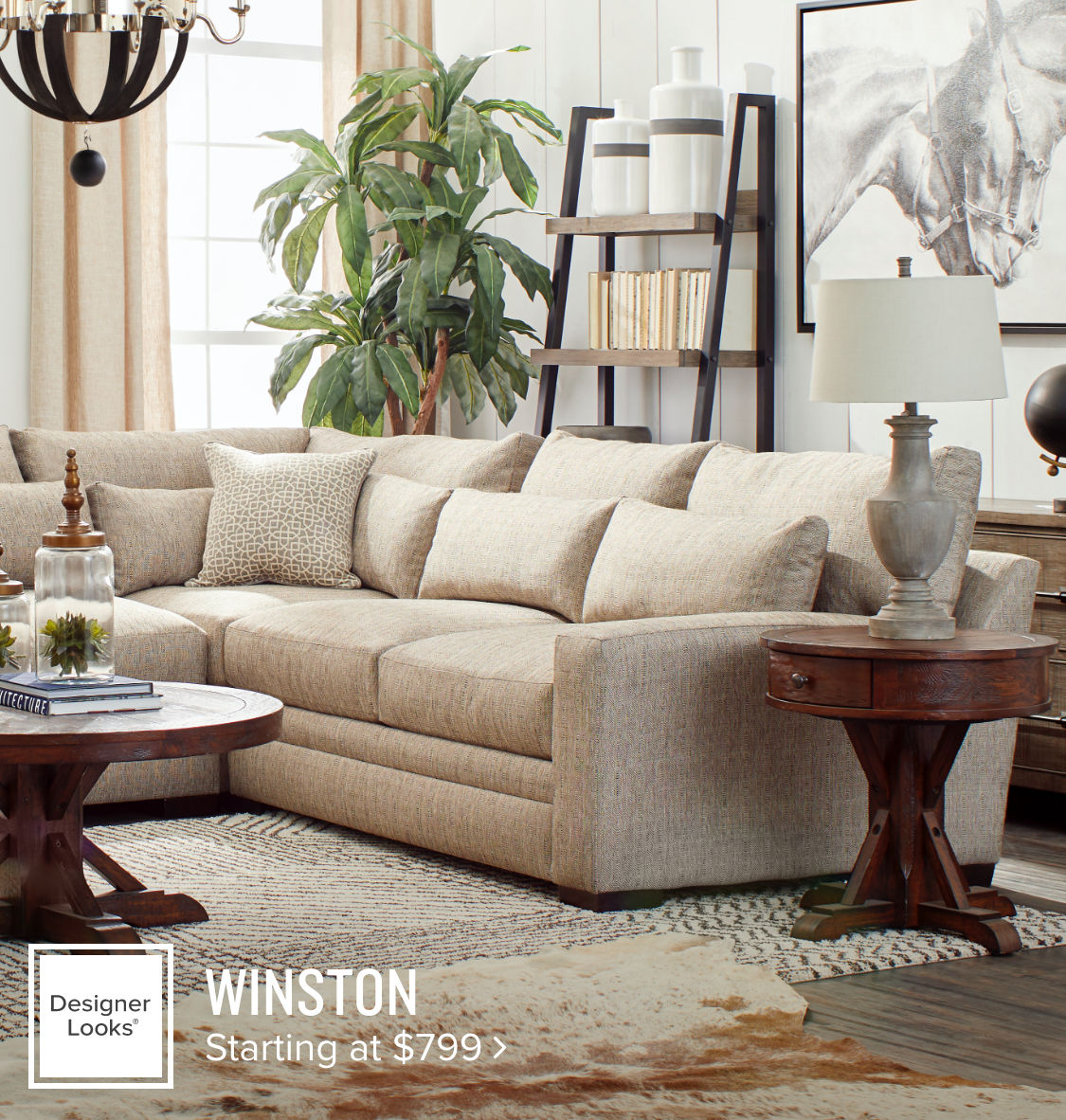 Winston 3-Piece Sectional Starting at $799