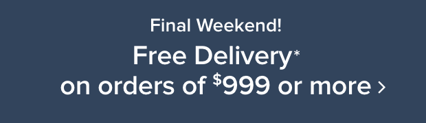 Free Delivery on orders $999+