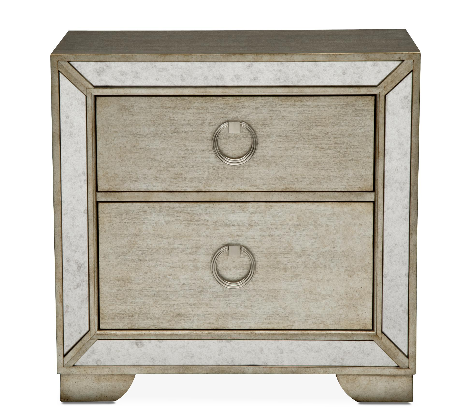 Angelina Nightstand   Metallic