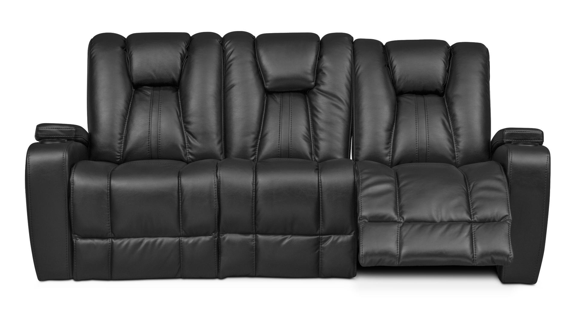 Pulsar Dual Power Reclining Sofa   Black