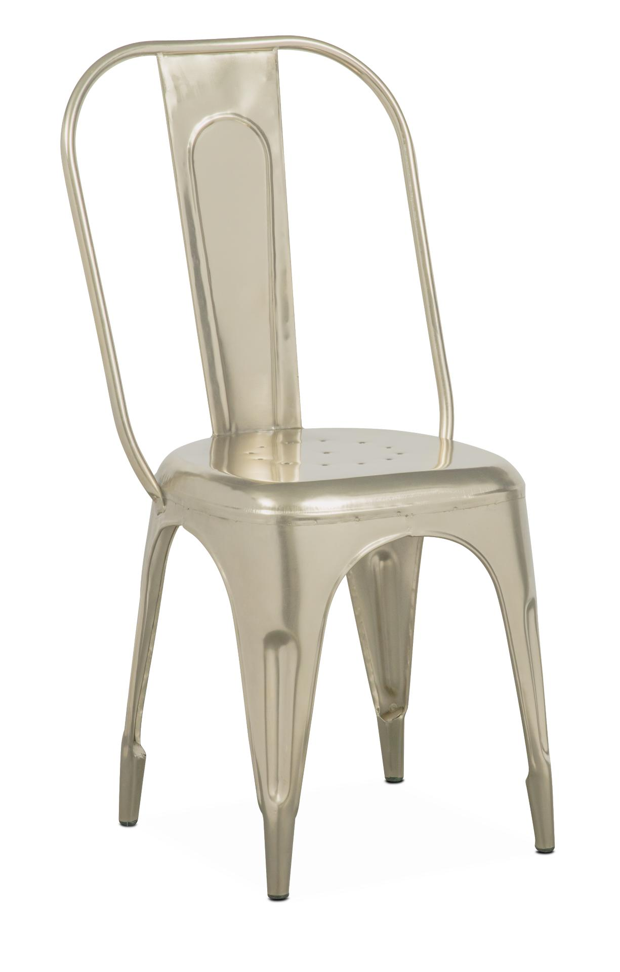 Holden Splat Back Side Chair   Nickel