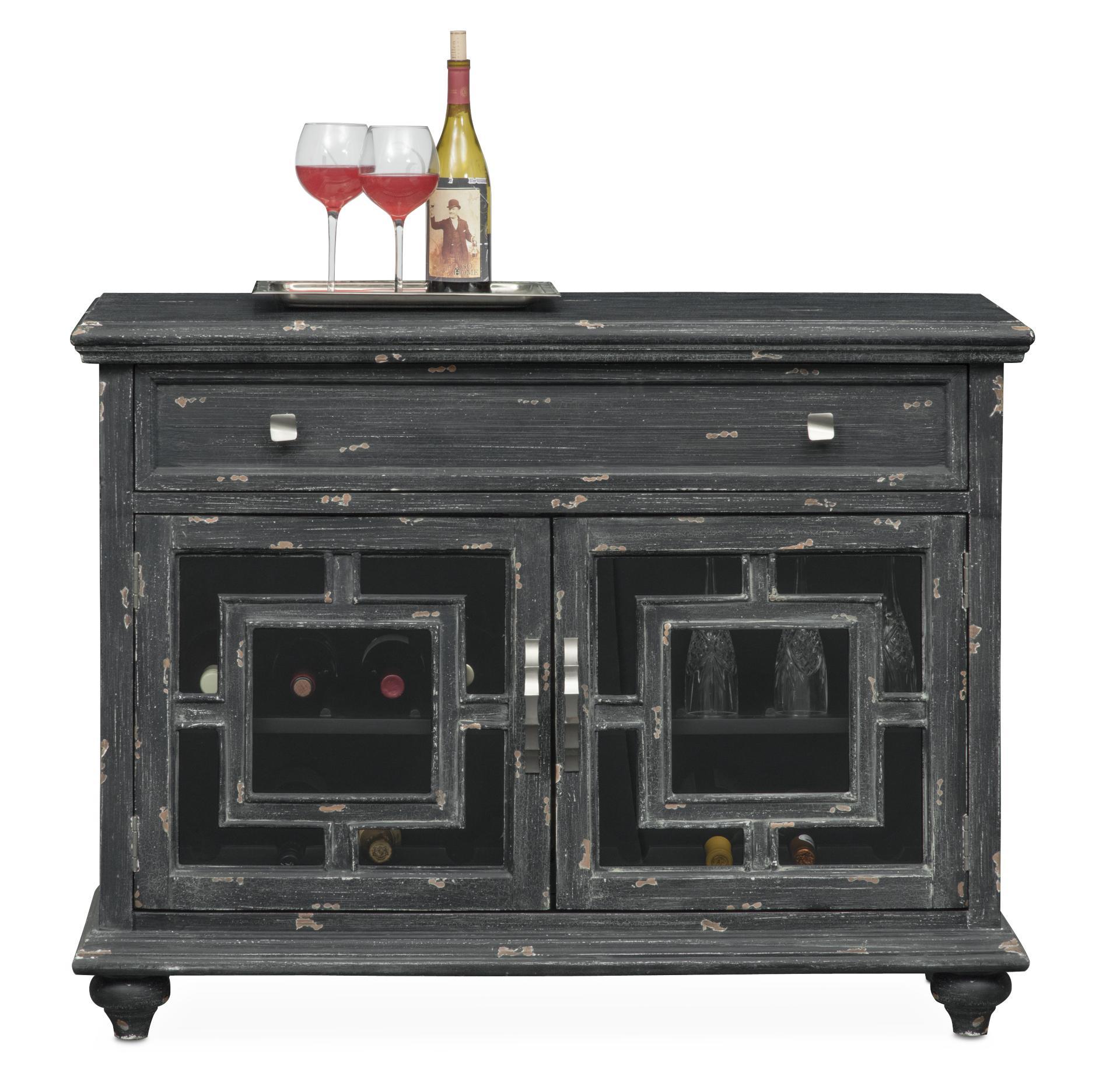 Bon Regina Wine Cabinet   Black