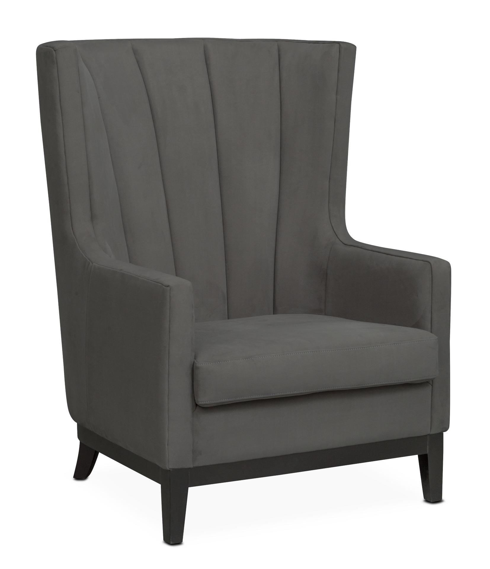 Brianna Accent Chair   Dark Gray