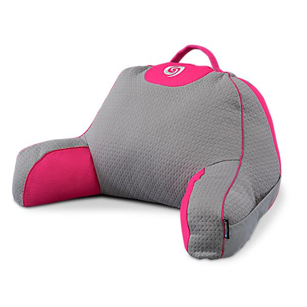 Bedgear Performance Backrest in Gray and Pink