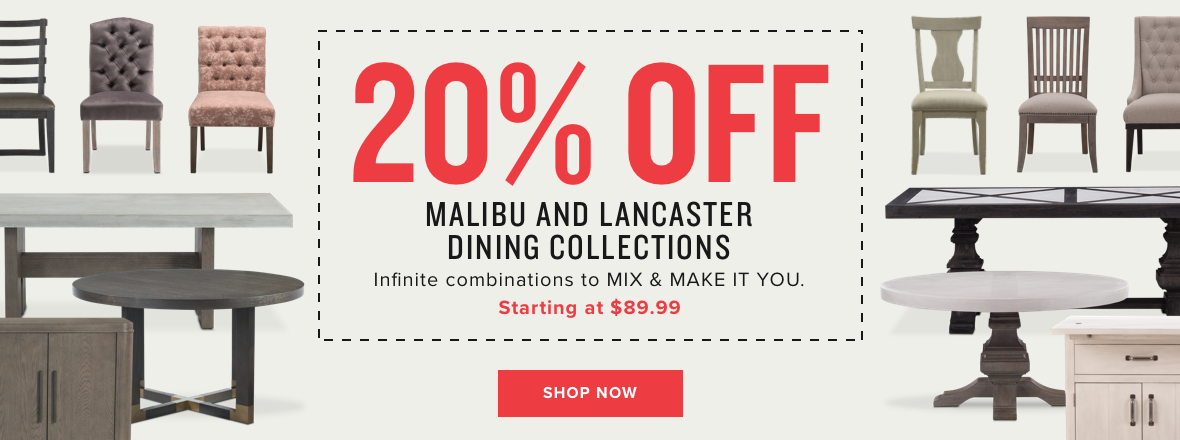 20% off malibu & lancaster dining