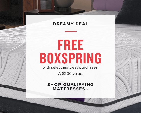 free boxspring with select mattress purchase | shop qualifying mattresses