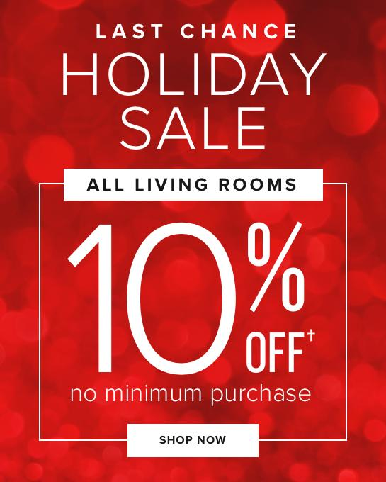 Last Chance Holiday Sale   All Living Rooms 10% Off No Minimum Purchase  Shop Now