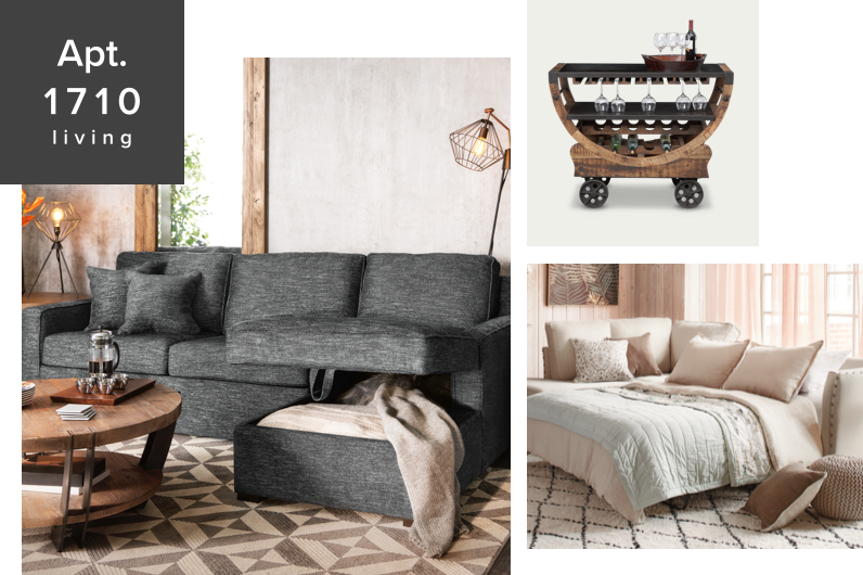 our apt.1710 collection designed for small spaces - shop now