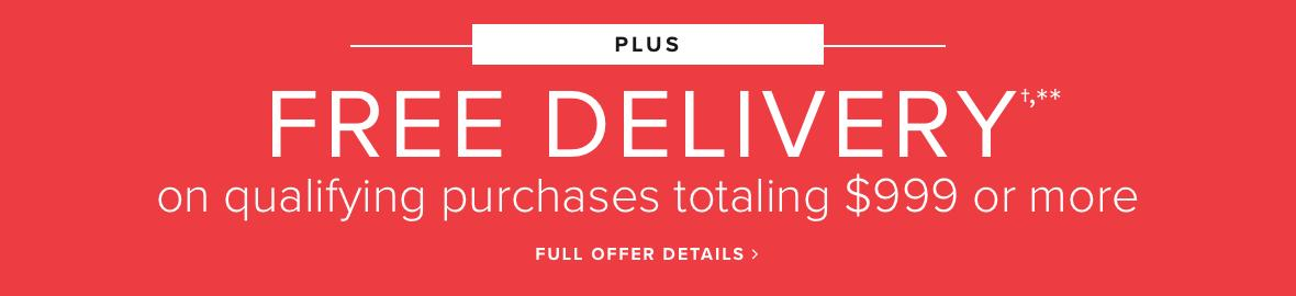 Plus Free Delivery On Orders Of $999 Or More Shop Now