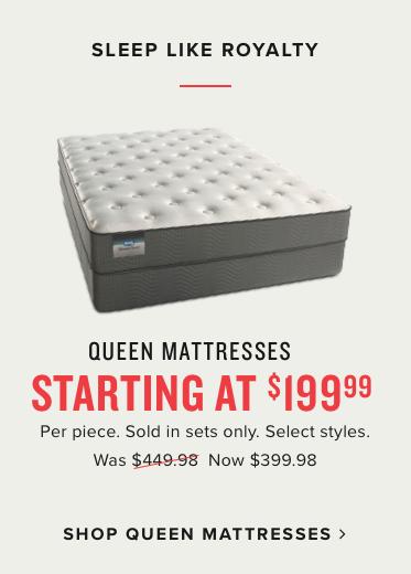 queen mattresses starting at $199.98 | shop queen mattresses