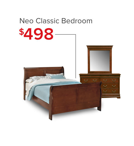 Neo Classic Bedroom Room - Shop Now