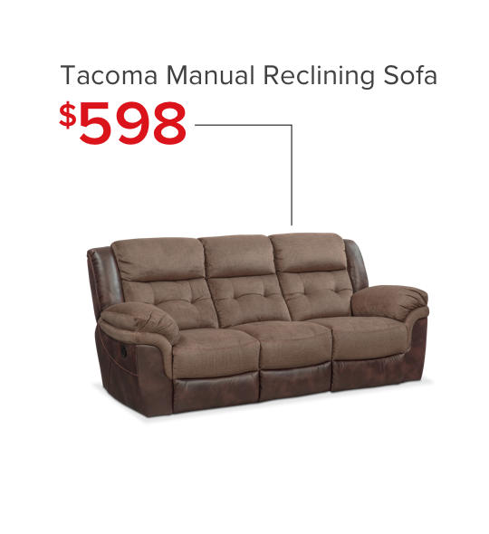 Tacoma Reclining Sofa - Shop Now