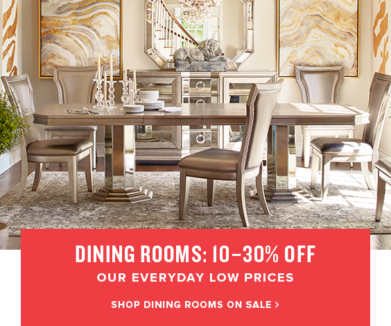 dining rooms: 10-20% off. shop dining rooms on sale.