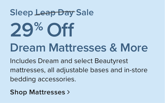 Mattresses up to 29% off